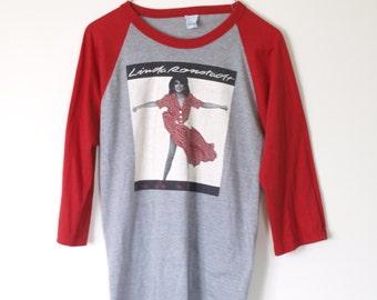 Vintage 1980s Linda Ronstadt Raglan Shirt