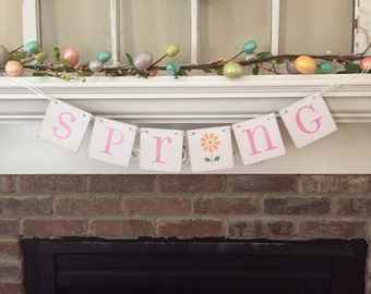 Spring Banner Spring Garland Easter Banner Spring Decoration