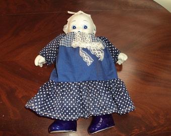 Blue & White Doll