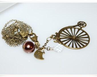 Necklace vintage Romancé bronze bronce necklace romancé bird Renaissance Historicism romance