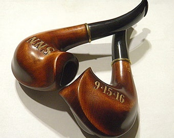 Pipe Personalized,Wedding gift Engraved Wooden Pipe Tobacco pipes Smoking pipe Wood pipe Carved wood , wedding