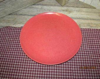 "Vintage Red Coral Rose Melmac Branchell 10"" Replacement Dinner Plate"
