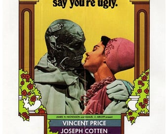 """50% Off Estate Sale Vintage Horror Science Fiction Movie Poster Print, 1971, The Abominable dr. Phibes, PMSF 11"""" x 14"""""""