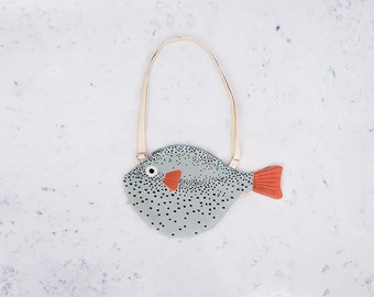 SMALL GREEN PUFFERFISH (small green balloon) - bag fish