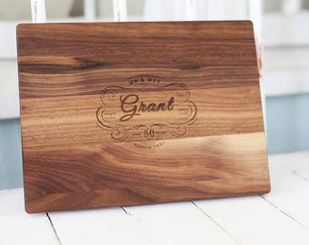 60th Anniversary Gift or ANY Anniversary, Custom Wooden Serving Gift