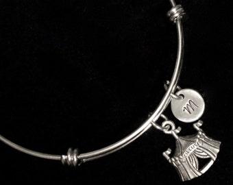Circus Tent Charm Bracelet, Circus Bangle Bracelet, Charm Bracelet, Adjustable Bracelet, Stainless Steel Bracelet, Initial Bracelet, qb3