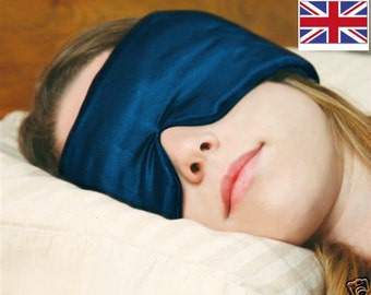 SLEEP MASTER TM - No 1 natural sleep aid blocks almost all light, reduces noise by almost 50 decibels (washable mask & reusable ear plugs)