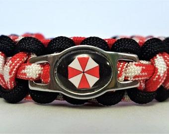 Resident Evil Umbrella Corp Paracord Bracelet