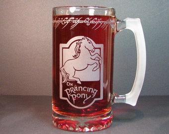 Lord of the rings, prancing pony mug 24oz