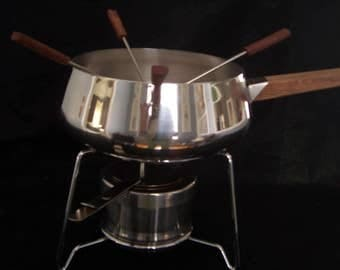 Vintage 7 pc Stainless Steel Fondue Serving Set by Vollrath