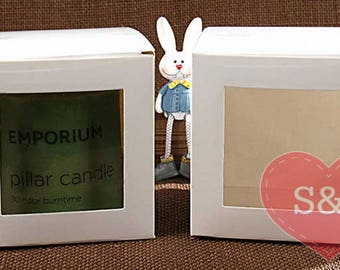 50x White 7cm 8cm 9cm 10cm container boxes with PVC front window
