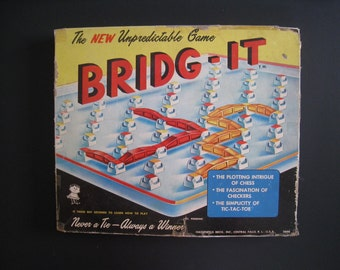 Bridg-It 1960 Boardgame Hassenfield Brothers (Hasbro). Complete in original box.