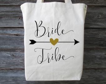 Bride Tribe Tote, Bachelorette Party Tote, Wedding Tote, Bride Tribe Bag, Wedding Shower Tote, Bridal Party Tote, Bride Tribe, Wedding Party