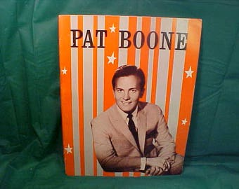 About Pat Boone Family and Friends 1960's Illustrated Picture Book/Magazine