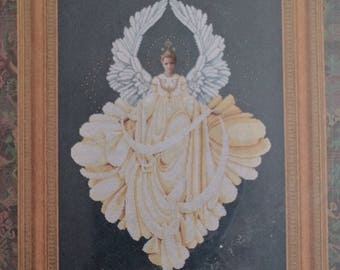 Lavender & Lace ~ PEACE ANGEL ~ Counted Cross Stitch Pattern Chart