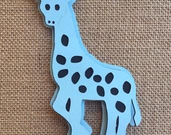 Giraffe/ Safari theme/ black and light blue giraffe/ Giraffe stick centerpieces/ Giraffe Baby shower