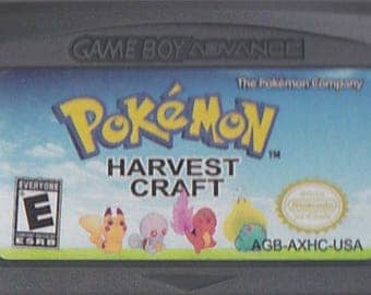 Gameboy Advance GBA Pokemon Harvest Craft Customized