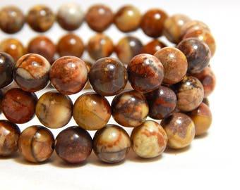 6mm Birds Eye Jasper, Full Strand, 6mm Jasper, Birds Eye Jasper, Colorful Gemstones, 6mm Gemstones, Earthy Beads, Red Jasper, B-31B