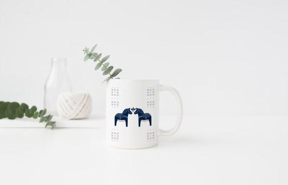 Swedish Dala Horse Mug