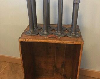 Set of 2 Malleable Iron Heavy Duty Shelf Brackets