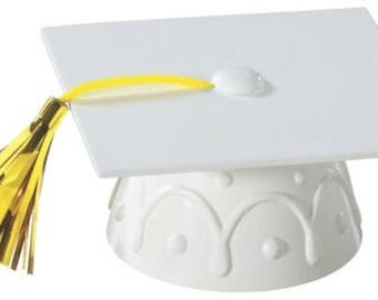 White Graduation Cap Hat Cake Kit Cake Toppers Decorations Party Favors