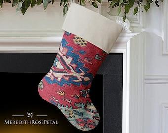 SALE! Rustic Christmas Stocking, Rustic Stocking, Woodland Christmas Stocking, Woodland Stocking, Tribal Christmas Stocking, Tribal Stocking