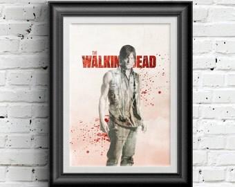 0179 Walking Dead Daryl Dixon Poster A3 Wall Art Print Multiple Sizes
