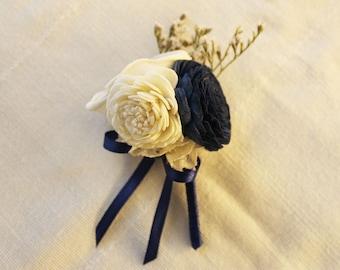 Boutonniere, Sola Flower, Wedding Flowers