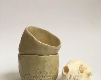 Two Small Pinch Pot Bowls