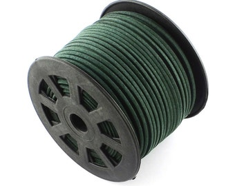 15ft Dark Green Faux Suede Cord 3mm ( No.157)