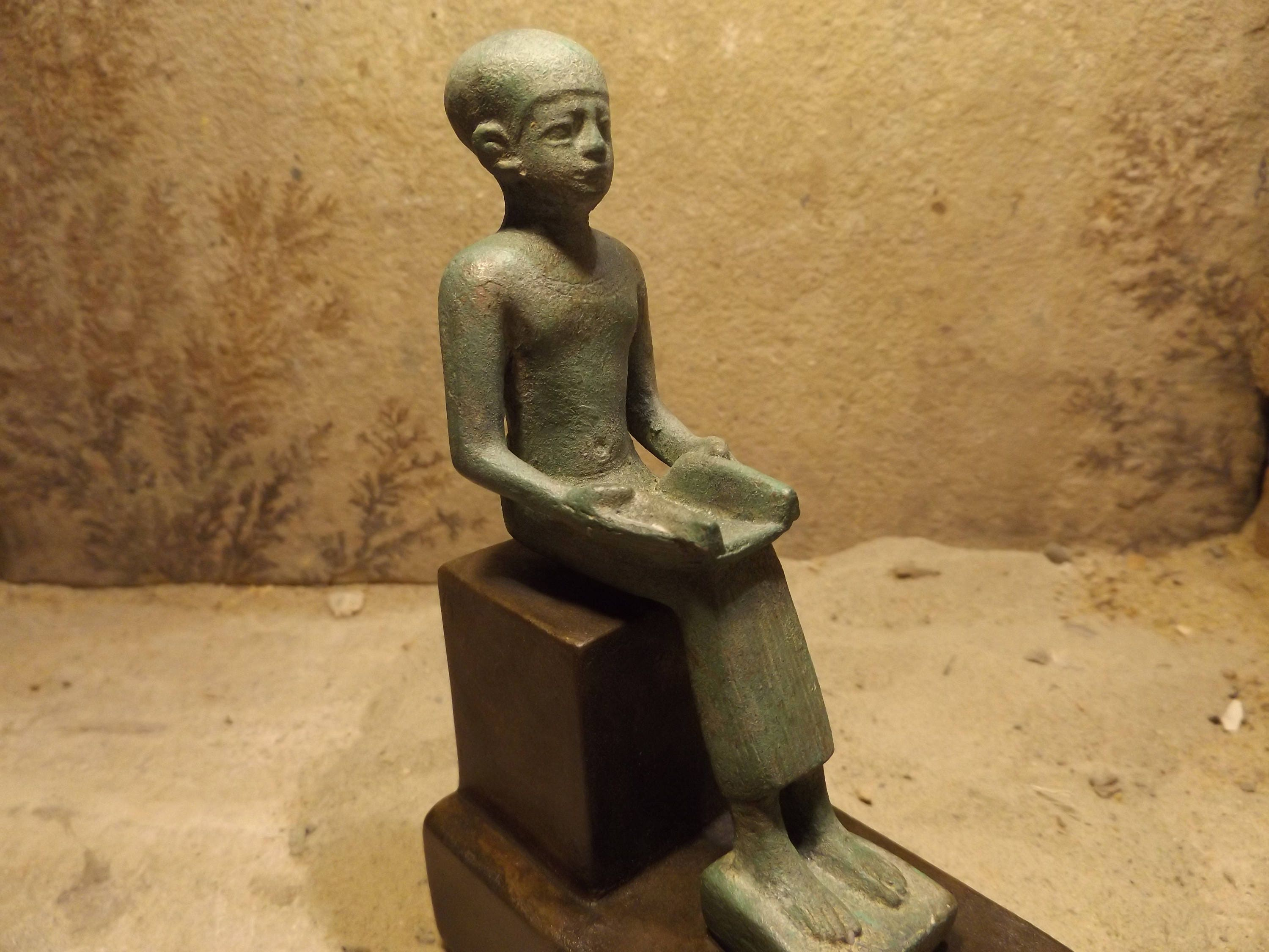 Egyptian statue sculpture art imhotep architect for Imhotep architecte