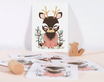 Card - Les Animignons :  the Deer