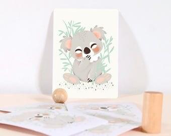 Card - Les Animignons :  the Koala