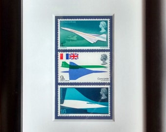 Concorde framed stamps for the 'First Flight' in 1969
