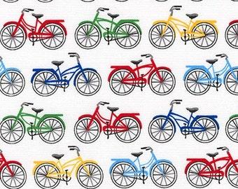 Fabric - Robert Kaufman - Everyday favorites multicoloured push bikes cotton print - woven cotton