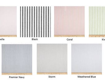 Ticking Stripe Bed Runners - Ticking Stripe Bed Scarfs - Premier Prints Classic Collection - Choose your size and color