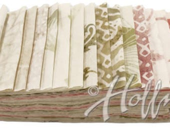 Hoffman Fabrics Fresh Linen Bali Poppy Twenty Different 2.5 inch Batik Strips BPP-651-Fresh-Linen