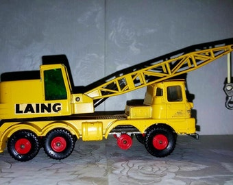LAING Toy Crane Truck by Lesney Matchbox - King Series - VINTAGE Diecast Toy Truck - Crane - Wrecker- Vehicle
