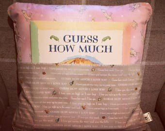 Cushion - Guess how much I love you pocket cushion with book