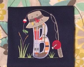 Initial Fishing Shirt~Personalized Fishing Shirt~Toddler Fishing Shirt~Toddler Boy Shirt~ Boy Fishing Shirt