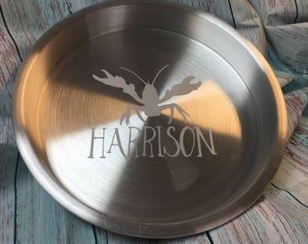 Personalized Aluminum Crawfish Tray
