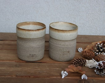 Set of two coffee mugs, pottery coffee mugs set, stoneware mug set, coffee lover mug, coffee lover gift, ceramic tea mug, ceramic tea cup