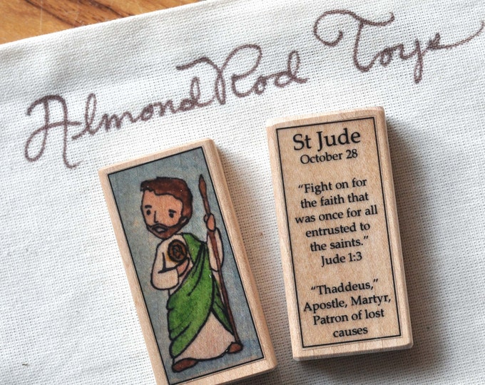 St Jude Patron Saint Block // 100+ Catholic Saints to choose from // Patron of lost causes