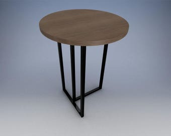 """42""""x32"""" round designer bar/bistro table."""