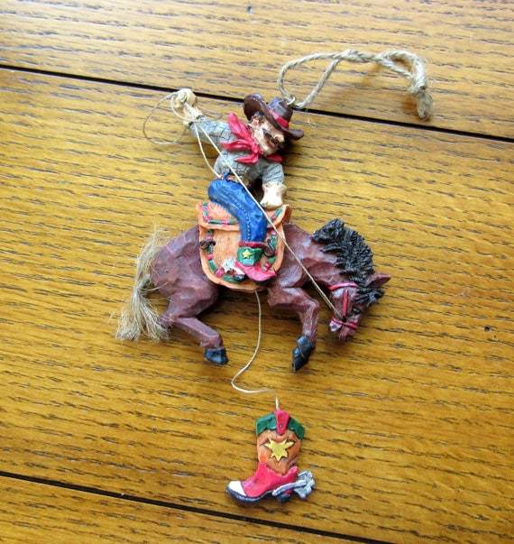 Bucking Bronco Ornament