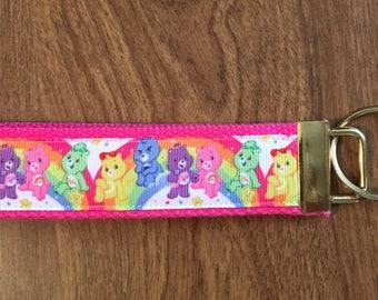 Care Bears Key Chain Wristlet Zipper Pull