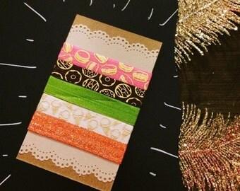 Sweet Tooth Hair Tie Pack - 5 Ties - Handmade - 30% of sales donated!