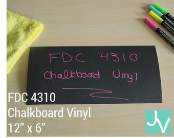 """Chalkboard Vinyl FDC 4310 - 1 sheet of 12"""" x 6"""""""