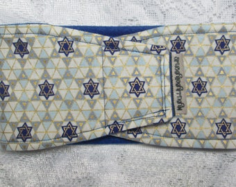 Male Dog Belly Band - Star of David (#129)