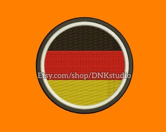 Flag of Germany Machine Embroidery Design - 5 Sizes - INSTANT DOWNLOAD
